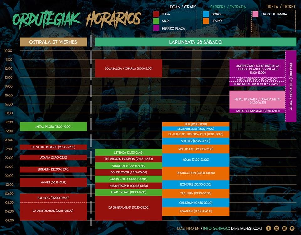 Dimetal Horarios 2019